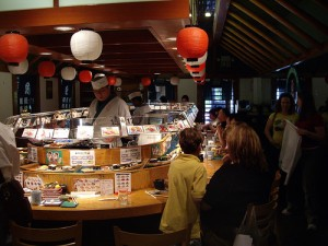 photo credit: Sushi Boats at Isobune Sushi via photopin (license)